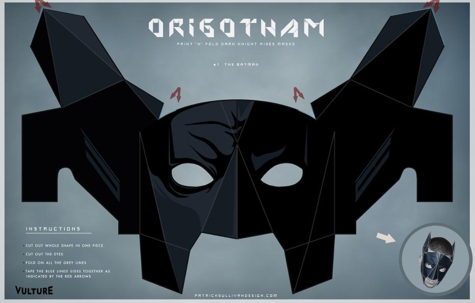 Маска бэтмена своими руками из картона